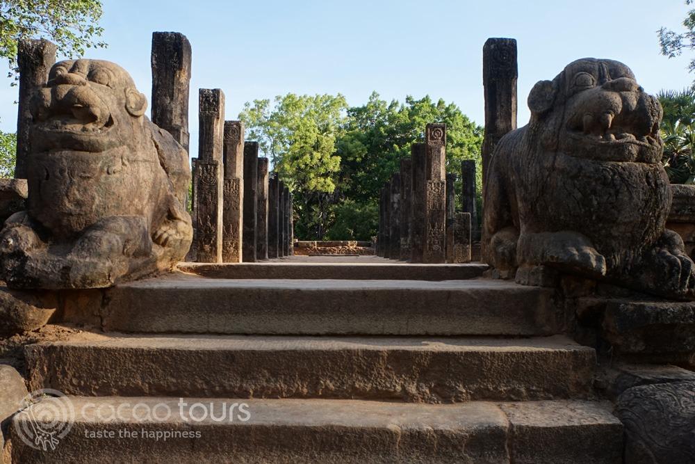 Royal court, Polonnaruwa, Sri Lanka