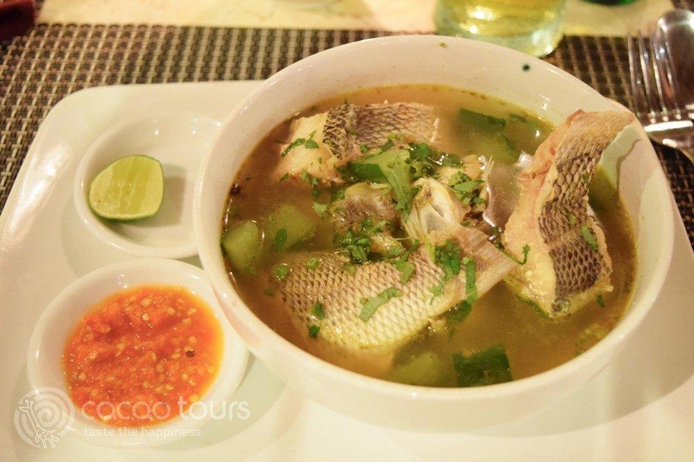 супа от риба, остров Бали, Индонезия