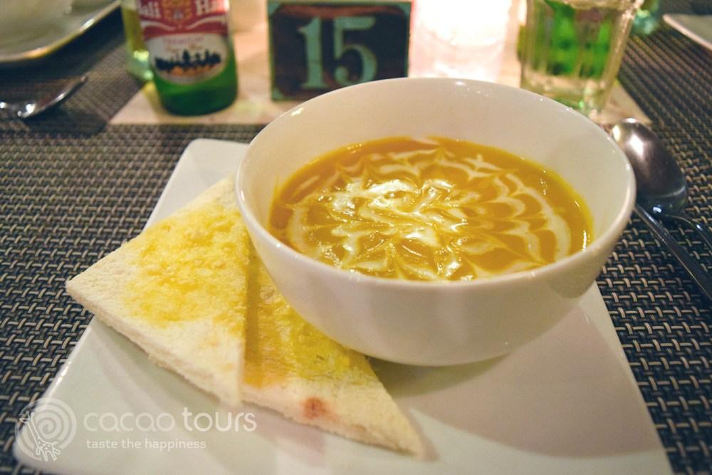 крем супа от тиква по балийска рецепта