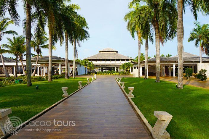 към рецепцията на Catalonia Bavaro Beach Resort, Пунта Кана, Доминикана