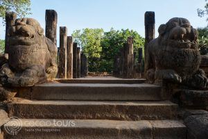 Royal court, Polonnaruwa, Sri Lanka