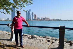 гледка към Емирския дворец, Абу Даби, ОАЕ