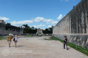 El juego de pelota, Chichen Itza, Mexico