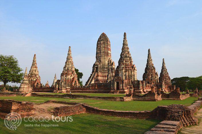 храмът Ват Чай Ваттанарам, Аютая, Тайланд