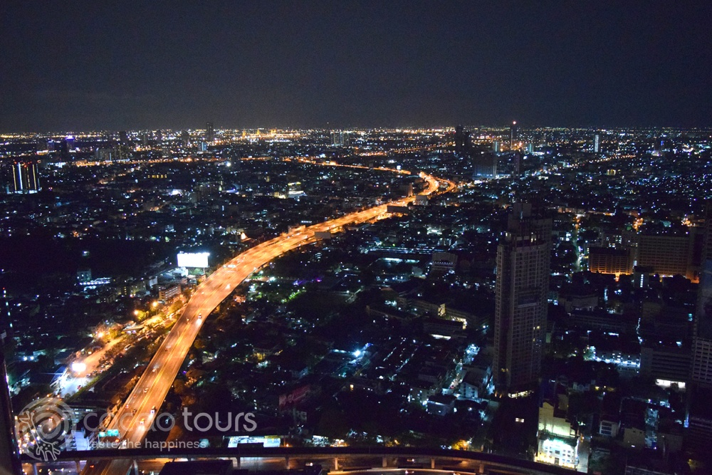 Нощен Банкок от руф бар Sky Bar Rooftop Lebua, Bangkok, Thailand