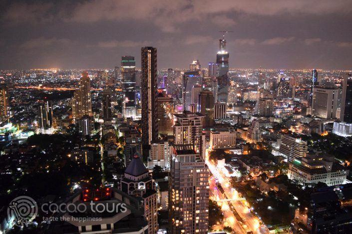 гледка от скай бар Вертиго, Банкок, Тайланд