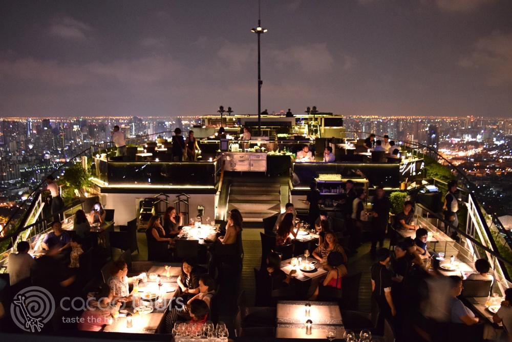 Вечеря в руфбар Вертиго, Банкок (Vertigo Rooftop bar, Bangkok, Thailand)