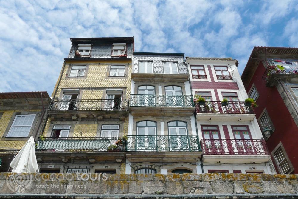 Рибейра в Порто, Португалия (Cais da Ribeira, Porto, Portugal)