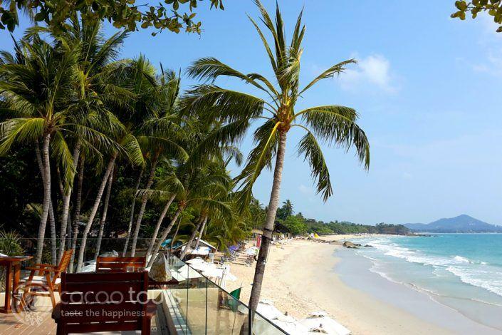 гледка към плажа от ресторанта на Impiana Resort, Чауенг Ной, Ко Самуи, Тайланд