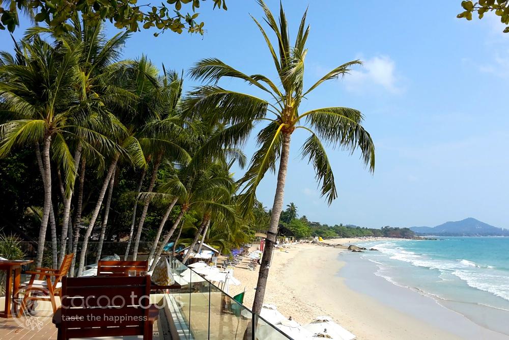 Плажната ивица в Чавенг Нои, Ко Самуи, Тайланд