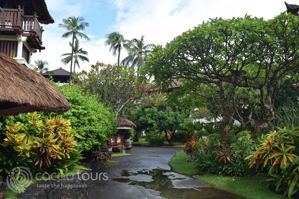 Територия на хотелски комплекс Nusa Dua Beach Hotel & Spa, Бали, Индонезия (Bali, Indonesia)
