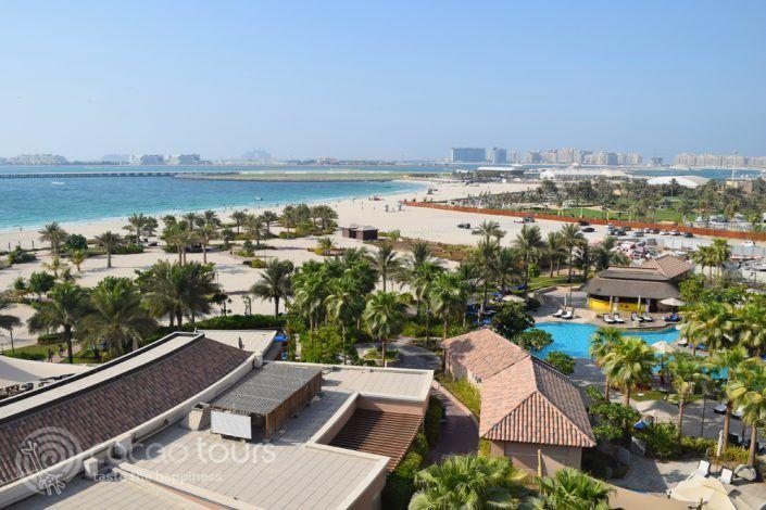 гледка от стаята на хотел Ritz Carlton Dubai, Дубай, ОАЕ