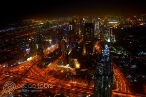 Дубай вечер от Бурж Халифа, Дубай, ОАЕ