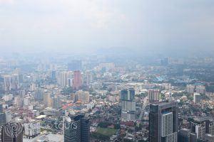 гледка към града от кулата Менара, Куала Лумпур, Малайзия