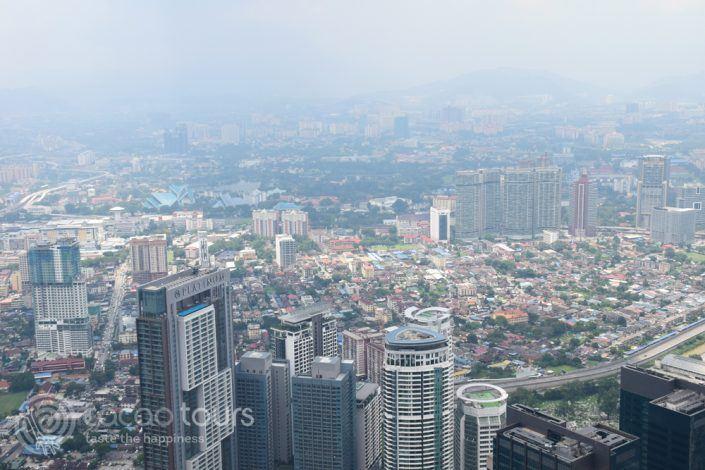 гледка от Менара, Куала Лумпур, Малайзия