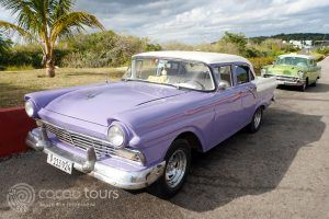 ретро коли в Варадеро, Куба