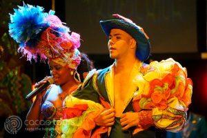 изпълнители от Тропикана шоу, Варадеро, Куба