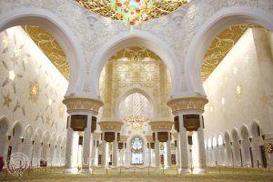 колони от интериора на джамията Шейх Зайед, Абу Даби, ОАЕ