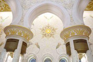 интериор на джамията Шейх Зайед, Абу Даби, ОАЕ