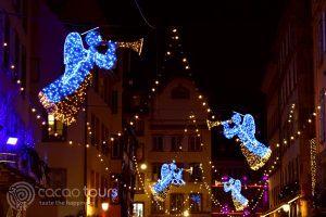 Коледна украса на коледните пазари в Страсбург, Франция (Strasbourg, France)