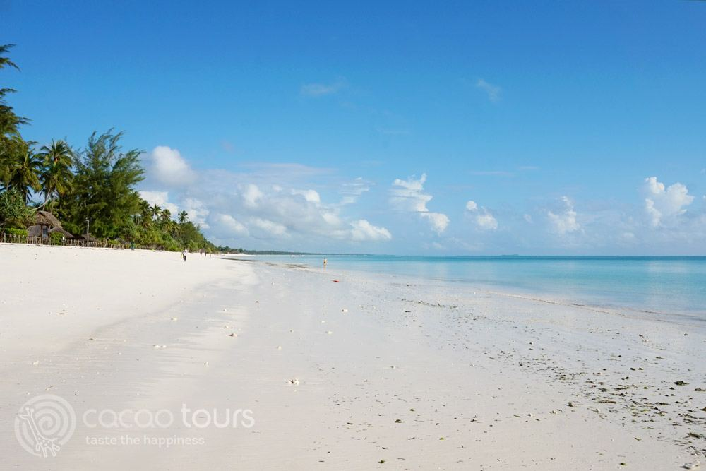 широка плажна ивица на остров Занзибар, Танзания (Zanzibar, Tanzania)