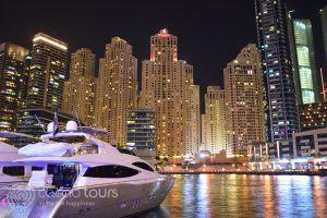 Дубай Марина нощем