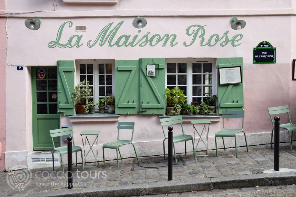 La Maison Rose, Montmartre, Paris, France