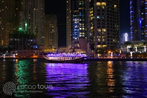 Дубай Марина, Дубай през нощта, ОАЕ