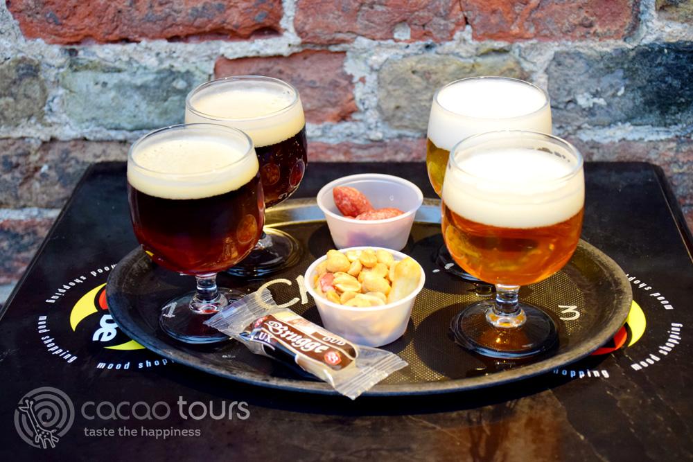 белгийска бира от бирения музей в Брюж