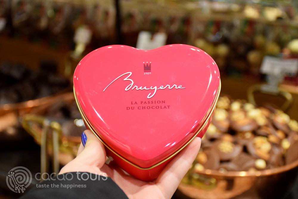 белгийски шоколад в Брюж
