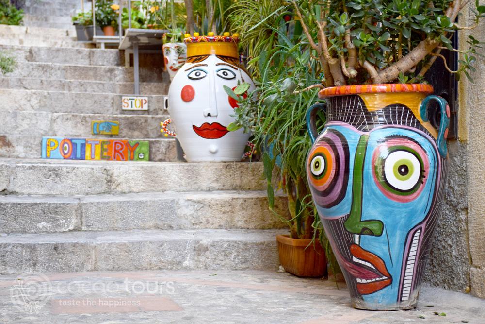 Сицилианска керамика, Таормина, остров Сицилия, Италия