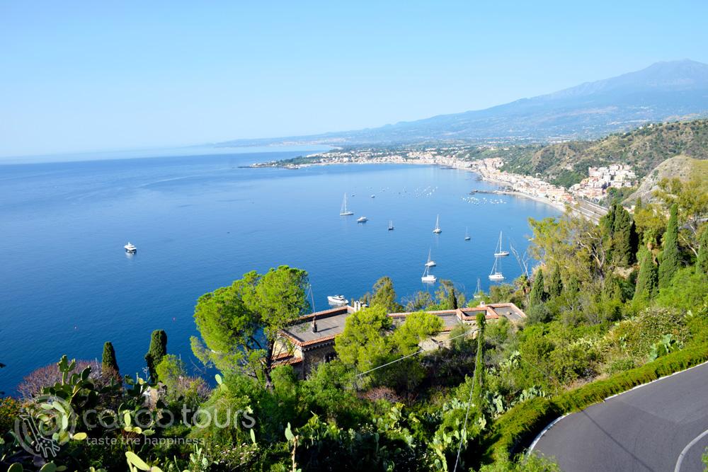Поглед от Таормина, остров Сицилия